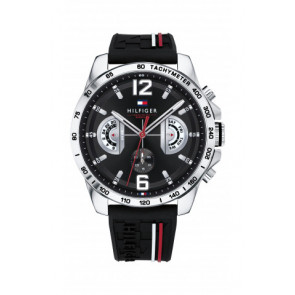 Klockarmband Tommy Hilfiger TH-320-1-14-2380 / TH1791473 / TH679302202 Gummi Svart 22mm