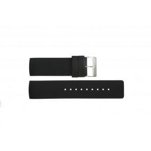Klockarmband Obaku V118L Gummi Svart 24mm