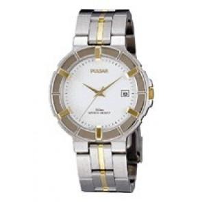 Pulsar klockarmband V732-0330  Rostfritt stål Bi-färg 8mm