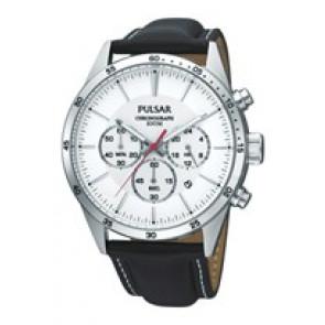 Klockarmband Pulsar VD53-X001 PT3007X1 (PP069X) Läder Svart