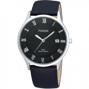 Klockarmband Pulsar VX42-X355 Läder Svart 20mm