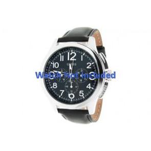 Guess klockarmband W10562G3  Läder Svart 22mm