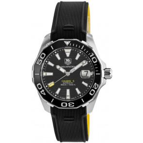 Klockarmband Tag Heuer WAY211A / FT6068 Gummi Svart 21mm