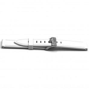 Klockarmband Gummi 22mm Vitt EX XH21