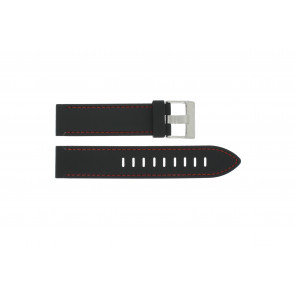 Klockarmband Universell XH19 Silikon Svart 22mm