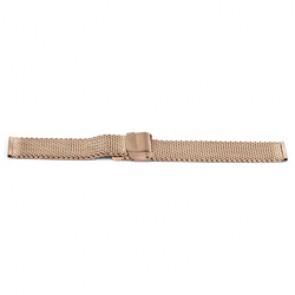 Klockarmband Universell YF101 Stål Rosévin 18mm