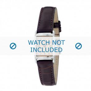 Armani klockarmband AR-0205 Krokodil läder Mörk brun 14mm