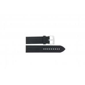 Armani klockarmband AR0527 Vanille / AR0532 / AR0559 / AR5826 Silikon Svart 23mm