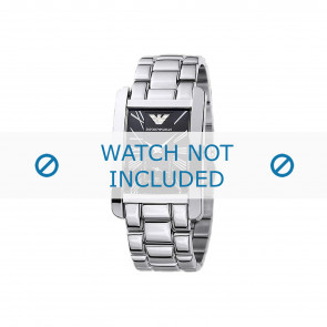 Armani klockarmband AR0156 Metall Ilverfärgad