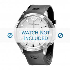 Klockarmband Armani AR0634 / AR0631 Silikon Svart 23mm