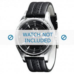 Klockarmband Armani AX1055 Läder Svart 22mm