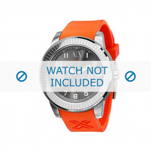 Armani klockarmband AX-1073 Gummi Orange