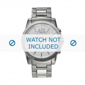 Armani klockarmband AX-2058 Stål Silver 22mm
