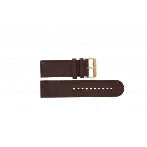 Prisma klockarmband DBR27 Läder Brun 27mm + sömmar brun
