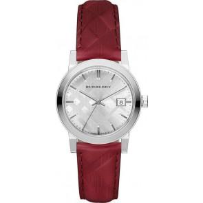 Klockarmband Burberry bu9152 Läder Röd