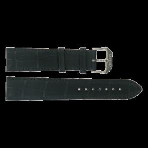 Certina klockarmband C600015907 21/18MM Läder Svart 21mm + sömmar svart