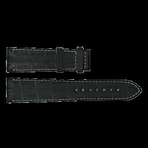 Certina klockarmband C610014940 Läder Svart 21mm + sömmar vitt