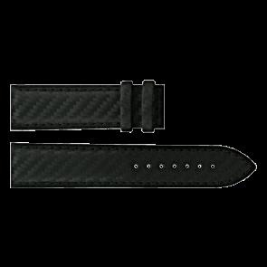 Certina klockarmband C610016427 Läder Svart 21mm + sömmar svart