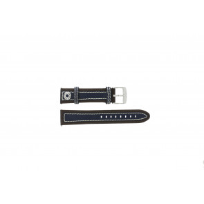 Camel klockarmband 3120-3129 / 3520-3529 Läder Brun 22mm + sömmar vitt