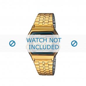 Klockarmband Casio A159WGEA-1EF / 10396378 Stål Guldpläterad 18mm
