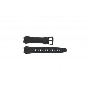 Klockarmband AQ-160W-1BV Plast Svart 17mm