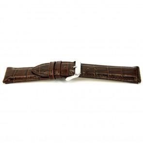 Klockarmband I035 XL Läder Brun 24mm + default sömmar