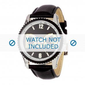 Dolce & Gabbana klockarmband DW0707 Läder Svart 20mm + sömmar svart