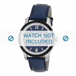 Dolce & Gabbana klockarmband DW0709 Läder Blå 20mm + sömmar blå