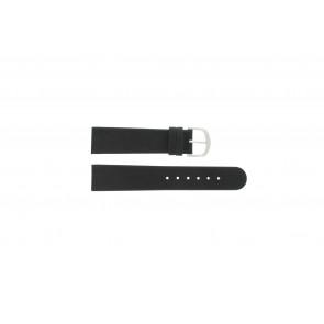 Klockarmband IQ13Q732 / IQ16Q672 Läder Svart 20mm