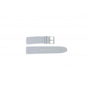 Davis klockarmband BB1544 Läder Vitt 22mm