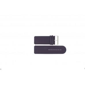 Jacques Lemans klockarmband DC218 / PUR Läder Lila 26mm