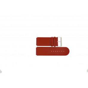 Jacques Lemans klockarmband DC-218 / RE Läder Röd 26mm