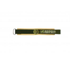 Esprit klockarmband ES101333002U Kardborreband Grön 16mm + sömmar brun