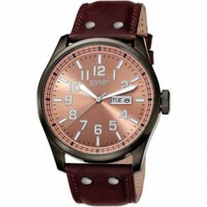 Esprit klockarmband ES103151002 Läder Brun 25mm + sömmar brun