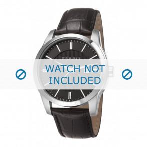 Esprit klockarmband ES107591 / ES107591001-40L Läder Svart + sömmar svart