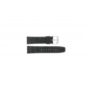 Festina klockarmband F16573/1 Läder Svart 23mm + sömmar vitt