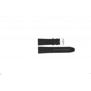 Jacques Lemans klockarmband FC29 / 9-201 Läder Svart 23mm + sömmar svart