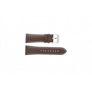 Festina klockarmband F16235/15 Läder Brun 28mm + sömmar vitt