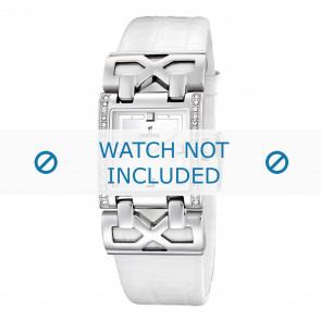 Klockarmband Festina F16465-1 / F16465-4 Läder Vit 23mm