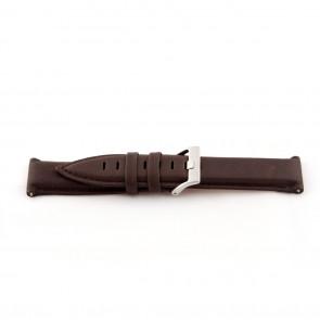 Klockarmband i äkta läder mellanbrunt 22mm EX-G119