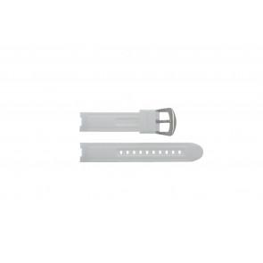 Klockarmband BTB.F.R.CH.05 / BTB.F.R.CH.01 Gummi Vit 19mm
