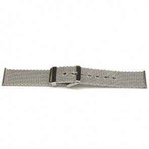 Geen merk klockarmband YI47 Metall Ilverfärgad 24mm