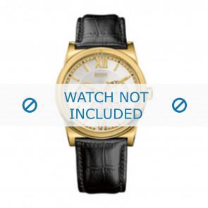 Hugo Boss klockarmband 1512590 / HB-127-1-34-2301 / HB659302290 Läder Svart 23mm + sömmar svart