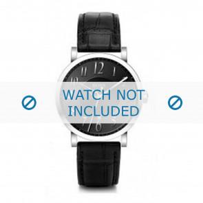 Hugo Boss klockarmband HB-19-1-14-2002 / HB1512175 / HB1512176 / HB1512008 Läder Svart + sömmar svart