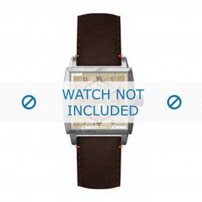 Hugo Boss klockarmband HB-34-1-14-2049 / HO1512141 Läder Brun + sömmar brun