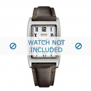 Hugo Boss klockarmband HO1512135 / HB-33-1-14-2056 Läder Brun + default sömmar