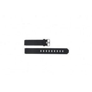 Jacob Jensen klockarmband 732 / 742 / 640 / 641 / 660 / 662 / 680 / 681 Gummi Svart 17mm
