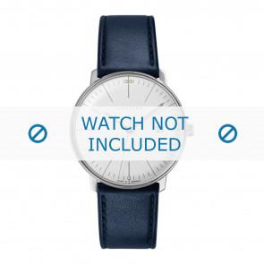 Junghans klockarmband 041/4464.00 Läder Blå 20mm + default sömmar