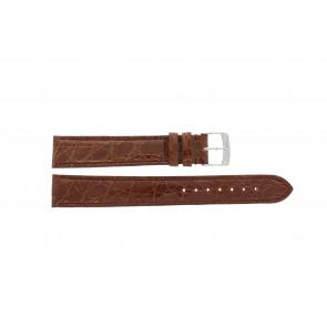 Morellato klockarmband Amadeus XL G.Croc Gl K0518052041CR18 / PMK041AMADEU18 Krokodilskinn Brun 18mm + default sömmar
