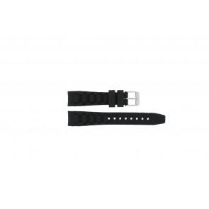 Garonne klockarmband KQ13Q419 Gummi / plast Svart 15mm